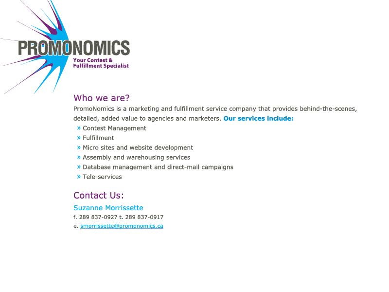 Welcome to PromoNomics